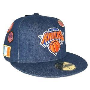New York Knicks 18 Draft Fitted Hat, Pin DENIM